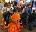 Hansel amusement park moving kids indoor rides electric mountable animals