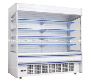 China Fruit / Drink Gray Multideck Open Chiller Adjustable For Convenience Store on sale