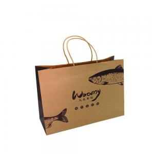 China Personalised Printed Paper Bags Kraft Paper Bags With Handle Logo Recyclable on sale