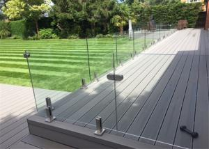 China Customzied 316s/s Frameless Glass Balustrade 304s.s Glass Railing For Swimming Pool supplier