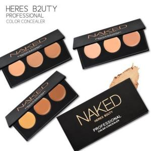 China HERES B2UTY Naked Concealer podwer 3 Colors highlighter cover freckle pore black eye circle Contouring Palette on sale