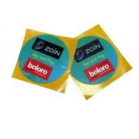 13.56 MHz HF RFID Circular Sticker Label Adhesive With Custom Printing