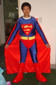 Quality handmade traditional superman adult mascot costume for male for sale