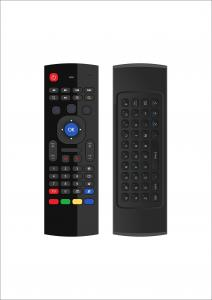 China Mini Wireless Keyboard Remote Control , 3 Gsensor Smart TV Remote With Keyboard on sale