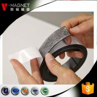 China 3M adhesive lamintaed magnetic material soft strong rubber 3M adhesive magnetic strips on sale