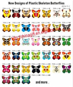 China Rubber Band Wind Up Butterfly on sale
