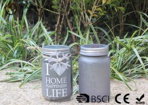 China Customized Mason Jar Led Solar Lights , Solar Powered Mason Jar Lantern on sale