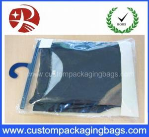 China Color Printing Soft Pvc Packaging Bags With Plastic Hanger For Underwear Clothing on sale