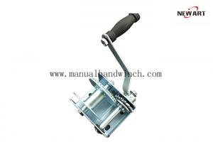 China Small Automatic Brake Manual Hand Winch Hand Boat Trailer Dinghy 600lbs on sale