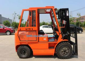 China 3.0T Counterbalance Forklift FD30T , Manual Diesel Forklift With 1200 Longfork on sale