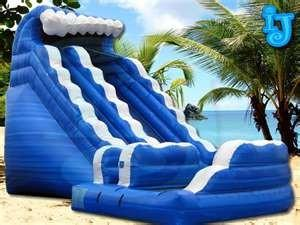 China Commercial portable water inflatable slide rentals for family backyard, parties, clubs on sale