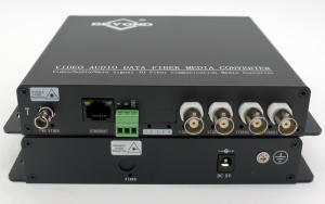China Multifunctional 4-ch Video+1-ch 10/100 Ethernet+1-ch RS232 To Fiber Optic converter on sale