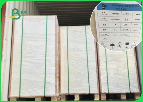 100% Virgin Pulp C1S Art Paper 1 Side Coated / Glossy SBS Board 700