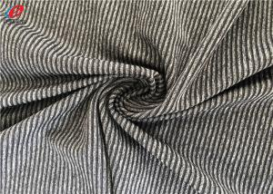 China Polyester Spandex Melange Striped Weft Knitted Fabric Environment Friendly on sale