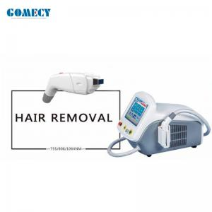 China Mini size Diode Laser Hair Removal Machine 755nm 808nm 1064nm Permanent Hair Removal Laser Machine on sale