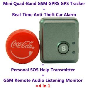 China V8S Mini GPS Tracker+Anti-Burglar Alarm+Personal SOS Help Alarm Transmitter+Spy GSM Audio Listening Transmitter Bug on sale