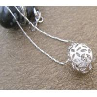 China Fashion Jewelry round 925 Sterling Silver Gemstone Pendant with Zircon for girls on sale
