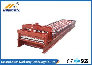 China Red color Glazed Tile Roll Forming Machine , 10-15m/min Glazed Tile Making Machine on sale