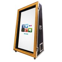 China Remote Control Standee Bachelorette Magic Mirror Photo Booth Kiosk Vending For Business on sale