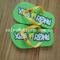 Summer Flip Flops Customized Sublimation EVA / Rubber Sandals Cool Slippers