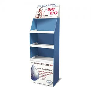 China Advertising Cosmetic Cardboard Display Shelf Corrugated Paper With Color Printing on sale