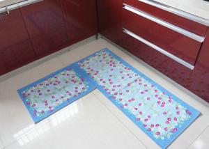 China Washable durable Non-Skid decorative kitchen floor mats , custom floor mats on sale