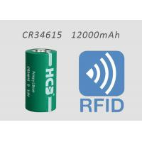 China 3 Volt D CR34615 Limno2 Battery 12000mAh 3000mA For RFID Medical Devices on sale