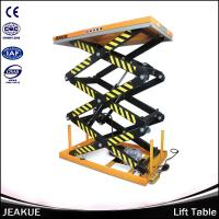 1000/2000kg Safety Hydraulic Electric Motorcycle Lift Triple-scissors Portable Lift Tables