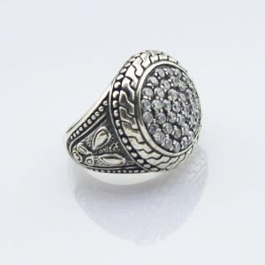 China Designer Jewelry 925 Sterling Silver Ring with Cubic Zircon(R39) on sale