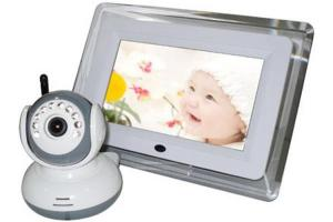 China 7'' TFT RGB Color LCD 2.4 GHz Digital Wireless Video Baby Monitors with Camera, 12 V DC on sale