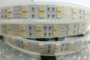 China Double Row RGB Waterproof Led Tape Light Kit 5M 120leds/M Exterior Led Strip Lighting on sale