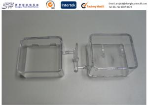 China Small Plastic Storage Container , Clear Display Shelves PC Polycarbonate Injection Molding on sale