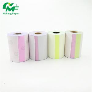 China Continuous 4 Ply 2 Ply Carbonless Paper Rolls High Brightness Long Years Image Life on sale