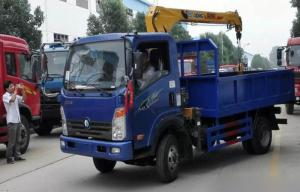 China Professional Pipeline Transportation Truck Mounted Crane 4×2 Drive Type on sale