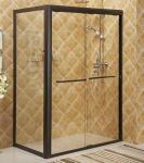 Vue glissant le bain de clôture de douche avec le cadre de l'alliage d'aluminium #6463, accessoires S.S.#304