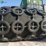marine rubber fender Chain nets last longer against corrosion boat fender molded rubber loading dock bumpers
