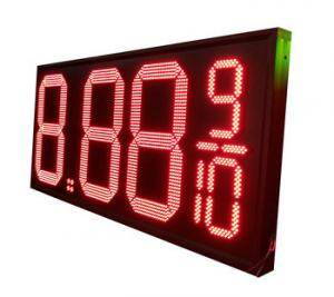 China Waterproof IP65 LED Gas Price Display , Digital Gas Price Signs Size Customized on sale