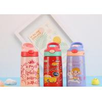 China Drinking Fashionable Childrens Water Bottle Vacuum Flask With Straw For Kids on sale