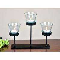 metal tea light holder with glass cup without tea light for table home decoration