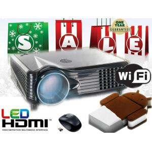China Full HD Video LED Projector Android/Wifi wireless HDMI USB for home theater 3D Cinema on sale