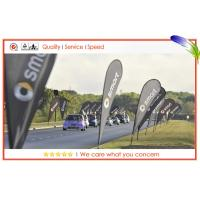 Full Color Printed Flying Banners , Custom Outdoor Advertising Teardrop Flags