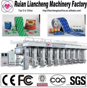 China plastic bag, label etc multi-color and width 10-70M/MIN photogravure printing machinery on sale