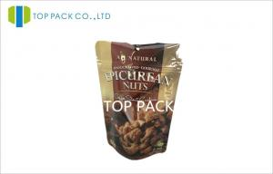 China Zipper Food Grade Stand Up Pouch Packaging Full Print for Nuts Storage on sale