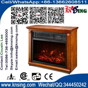Insert And Freestanding Electric Fireplace Heater Log LED Flame Effect  EF 30C Remote Control Built In Electric Stove