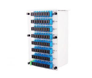 China Fiber Optic Coupler Splitter SC PC 1x64 PLC Splitter Cassette Type Fiber Coupler on sale