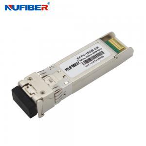 China 10Gb/s SFP+ Transceiver SFP-10G-SR dual fiber multimode 300m 850nm LC DDM on sale