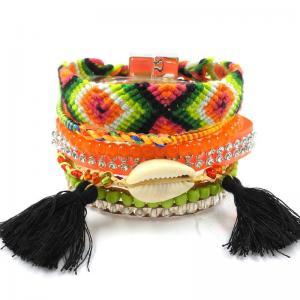 China Fashion hipanema bracelets&bangles Bohemia Summer Beach Bangle Handmade Ladies bangles on sale