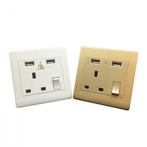 China British Standard Wall Plug 86mm Type Wall Switch Socket Tin Phosphor Bronze Core Material on sale