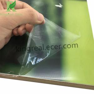 China Transparent Self Adhesive Protective Film for High Gloss UV Sheet on sale