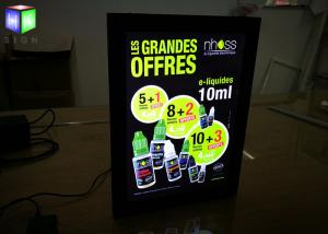China Hotel Magnetic Advertising Light Box Poster Frameless With Acrylic Sheet on sale